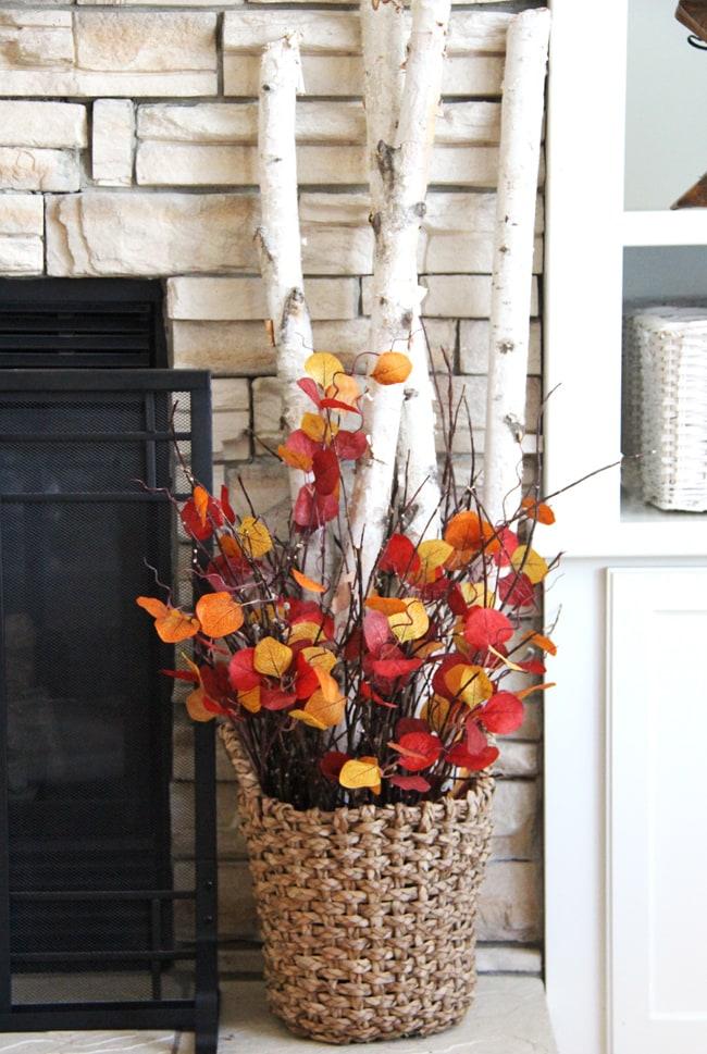 Fall Living Room Decor  3{A Pretty Life}