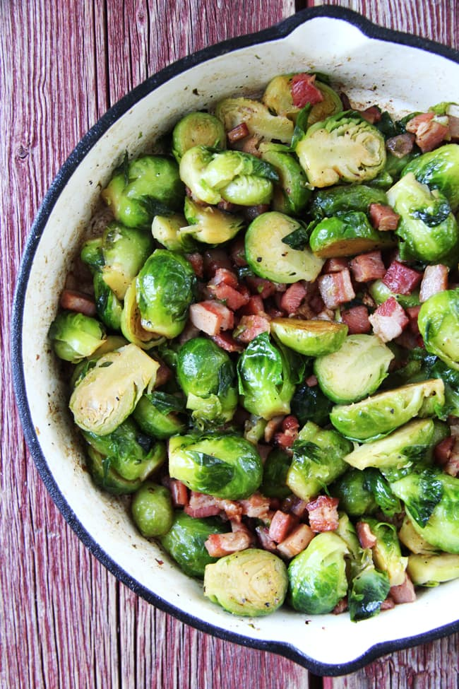 Roasted Brussel Sprouts with Pancetta  2a
