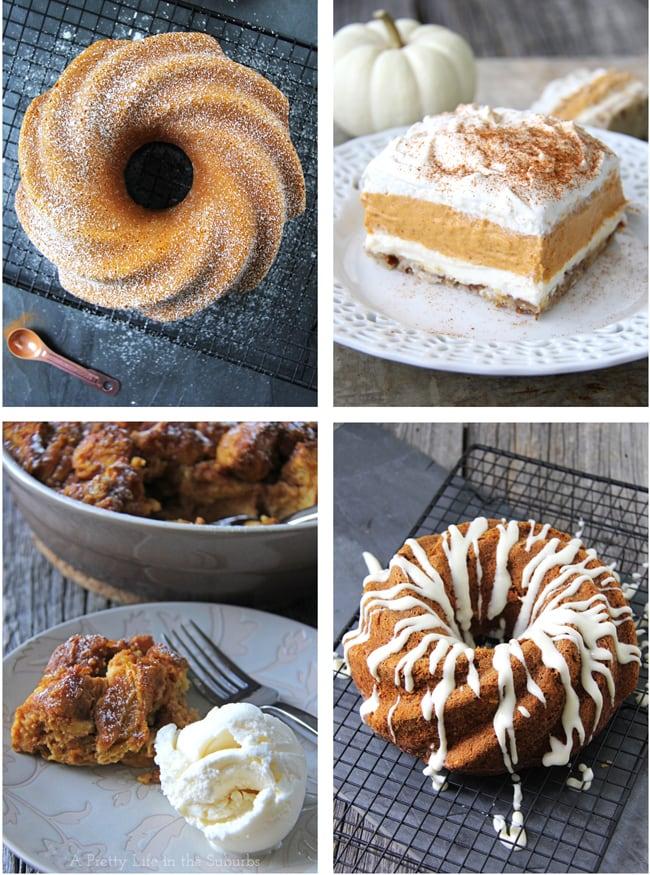 Delicious Pumpkin Desserts {A Pretty Life}