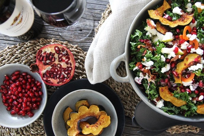 Kale & Roasted Squash Fall Salad 3