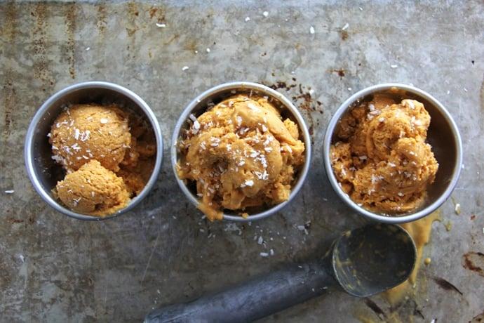 No Churn Pumpkin Coconut Ice Cream 4a