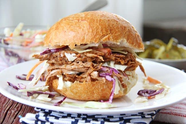 Pulled Pork and Creamy Coleslaw