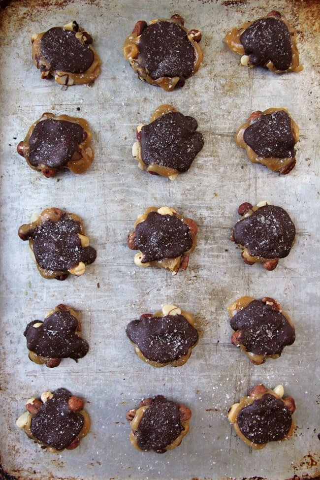 Chocolate Caramel Nut Clusters 2a{A Pretty Life}