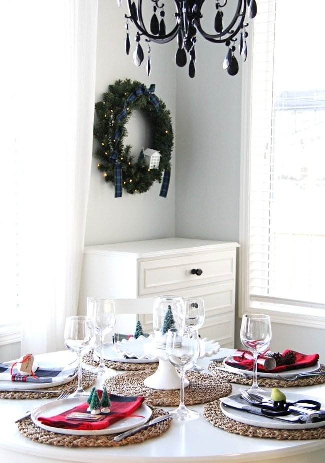 Christmas place setting ideas a pretty life in the suburbs Christmas place setting ideas