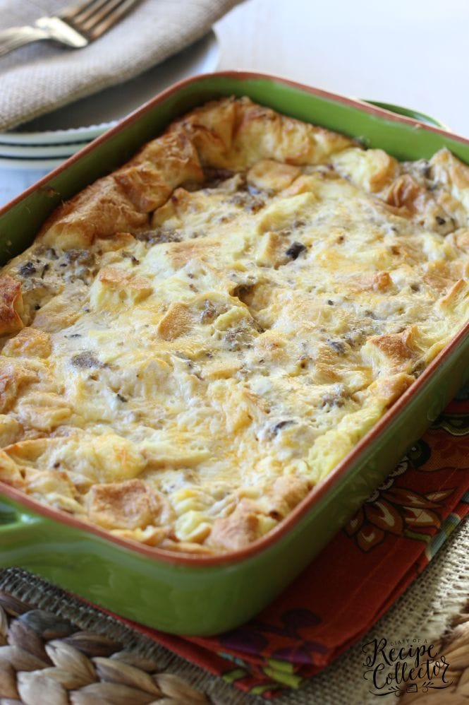 Sausage, Egg and Cheese Croissant Bake
