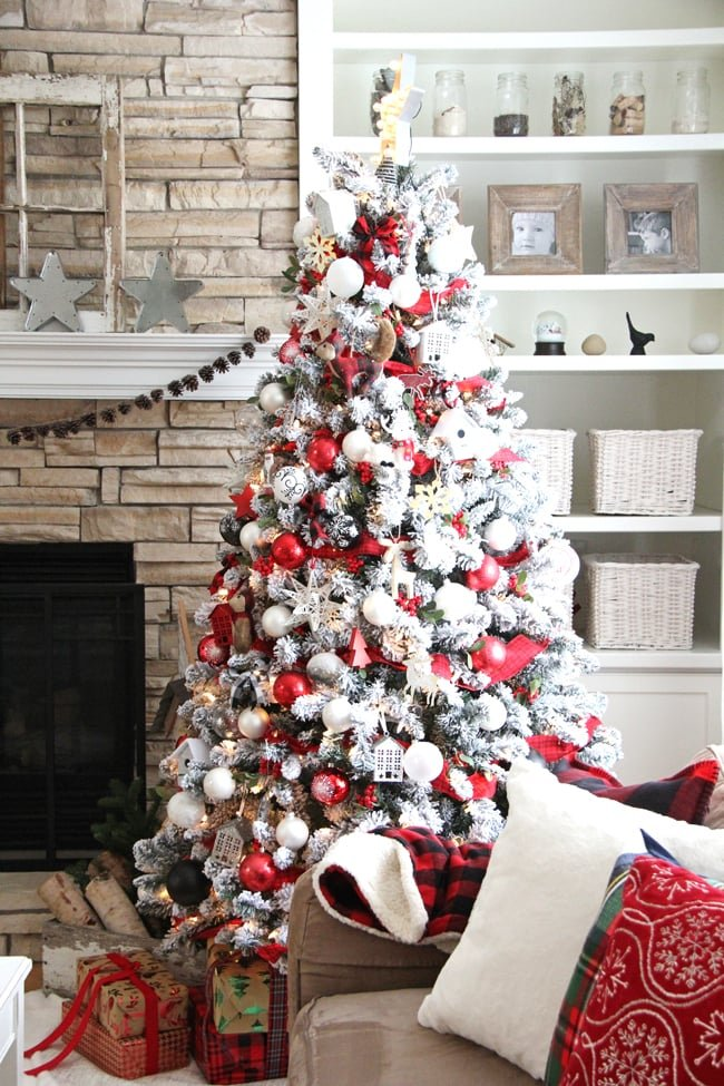Red & White Christmas Home