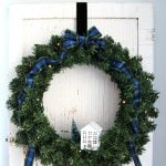 Plaid and Evergreen Christmas Wreath