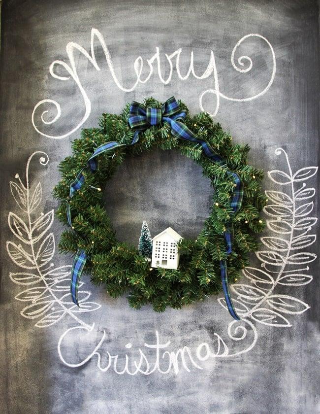 Simple Evergreen Christmas Wreath 2 {A Pretty Life}_edited-1