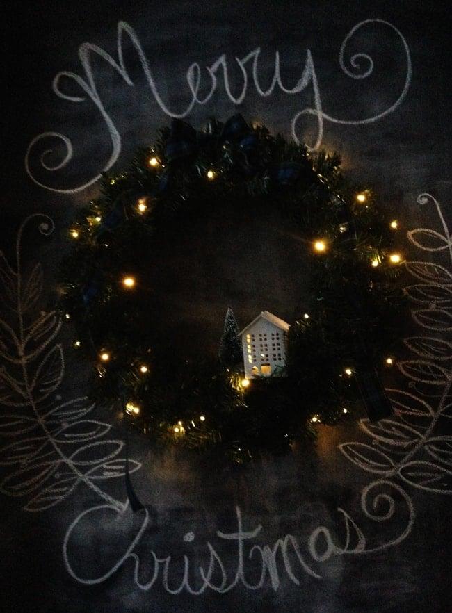 Simple Evergreen Christmas Wreath 5 {A Pretty Life}