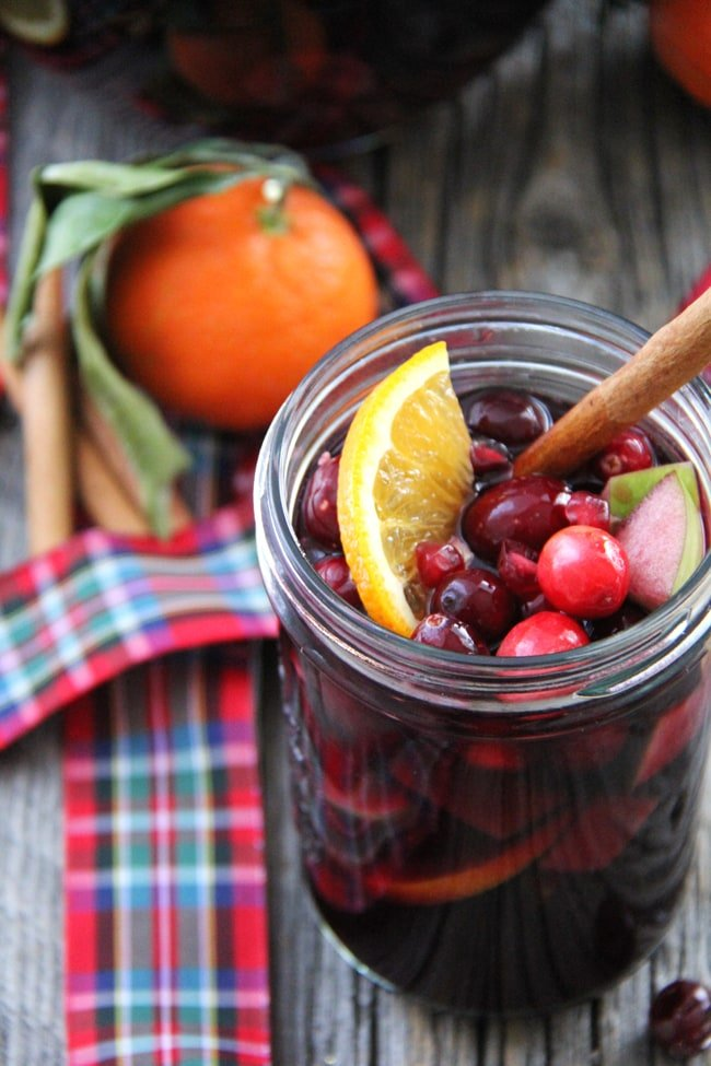 Winter Sangria, shared by A Pretty Life at the Clever Chicks Blog Hop
