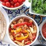 Slow Cooker / Crockpot Chicken Fajitas