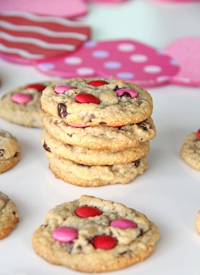 Valentines Day Chocolate Chip Cookies {A Pretty Life}2