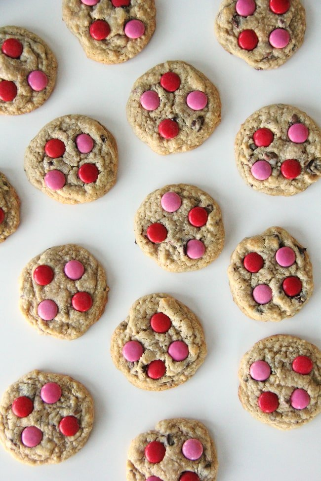 These Chocolate Chip Cookies are soft and chewy, and decorated with ...
