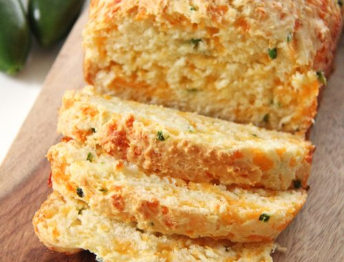 Jalapeno Cheddar Quick Bread  {A Pretty Life}Feature