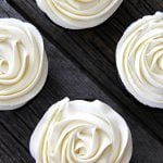 A top down view of cupcakes decorated with Marshmallow Buttercream