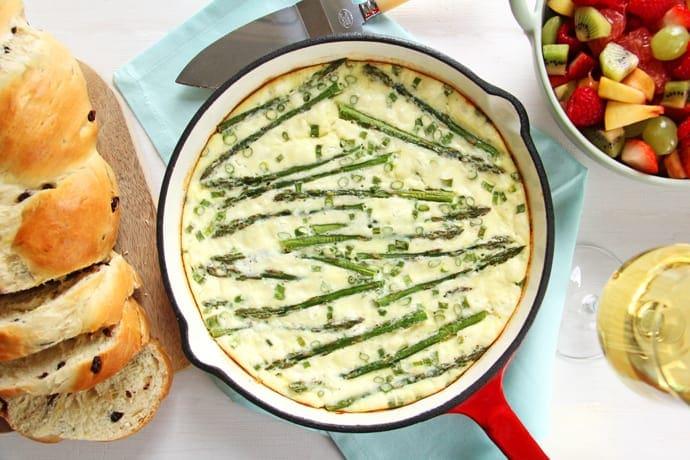 Asparagus Goat Cheese Fritatta