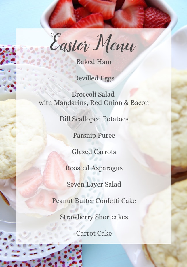 Easter Menu {A Pretty Life}