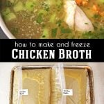 How to Make and Freeze Chicken Broth