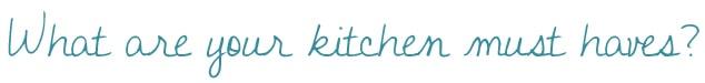 Kitchen Essentials Title