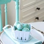 Robin's Egg Blue Table Setting Idea