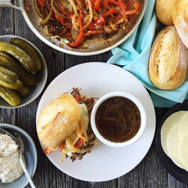 Crockpot Beef Dip Recipe {A Pretty Life}