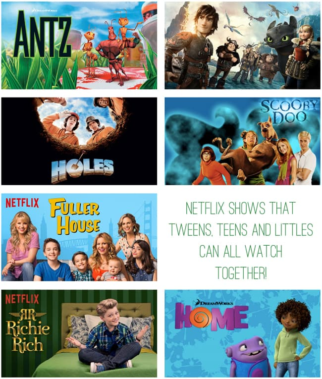 Netflix Shows that tweens, teens and littles can all watch together