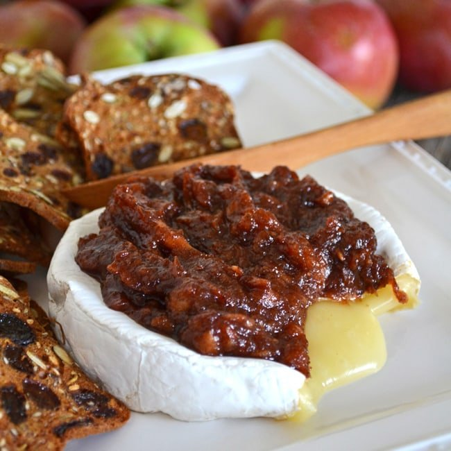 Brie with Homemade Apple Butter