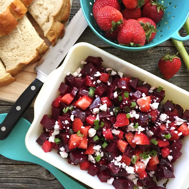 Strawberry Beet Salad  {A Pretty Life} Feature