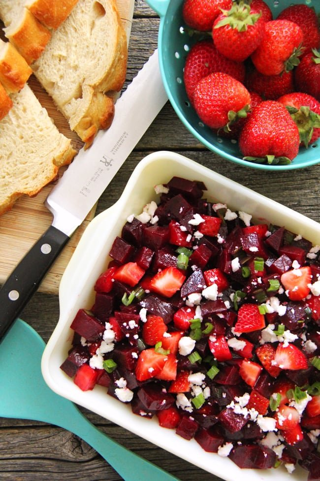 Strawberry Beet Salad {A Pretty Life}