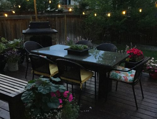 Easy DIY Patio Lights  {A Pretty Life}
