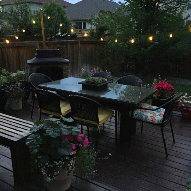 Patio Lights Diy: A Pretty Life In The Suburbs