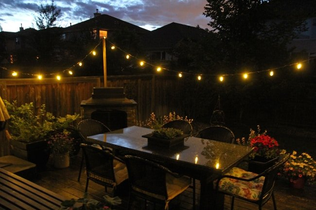 Easy DIY Patio Lights {A Pretty Life}5