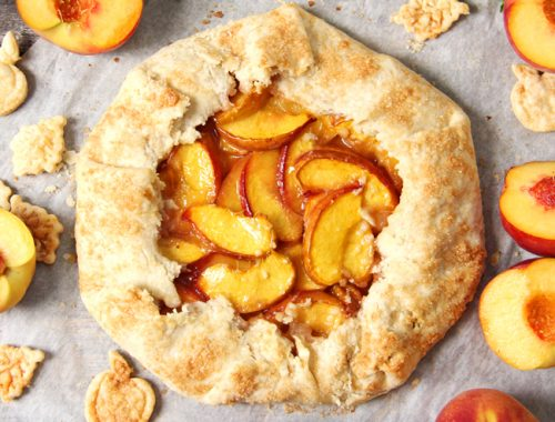 Honey Peach Galette Feature