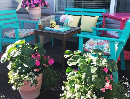 Patio Container Garden  {A Pretty Life}8