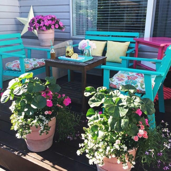 Patio Container Garden  {A Pretty Life}8