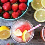 Simple Strawberry Lemonade Granita