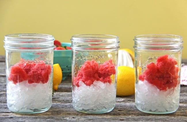 Strawberry Granita Lemonade {A Pretty Life}