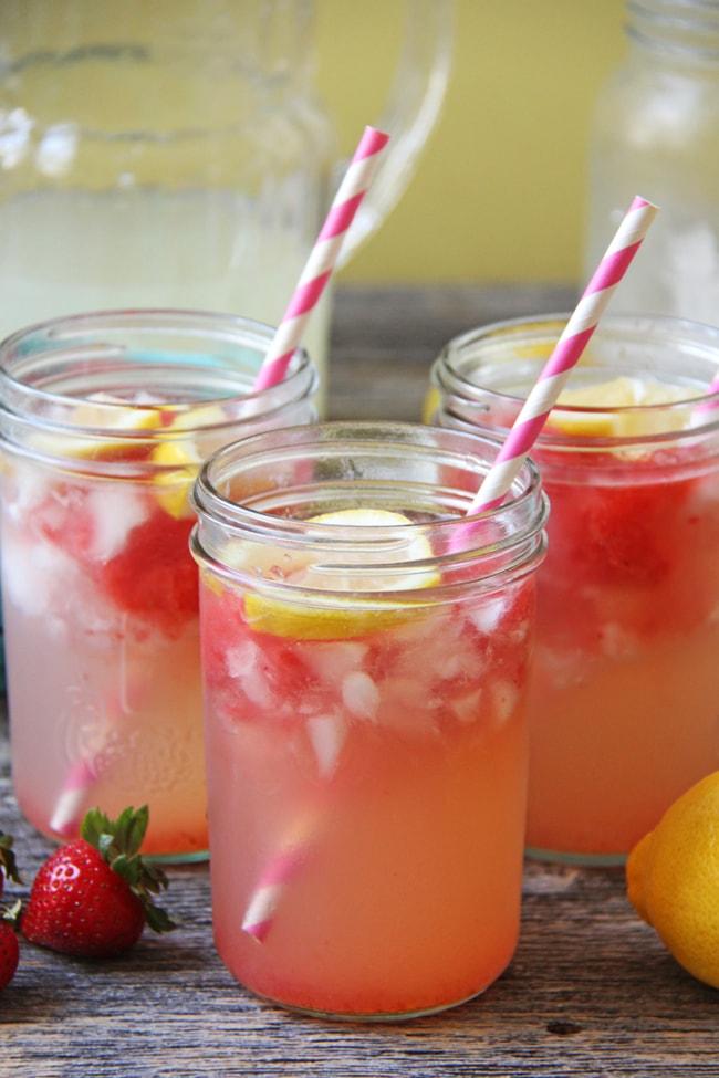 Strawberry Granita Lemonade {A Pretty Life}3