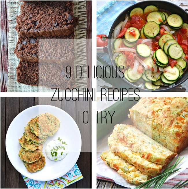 Zucchini Recipes To Try