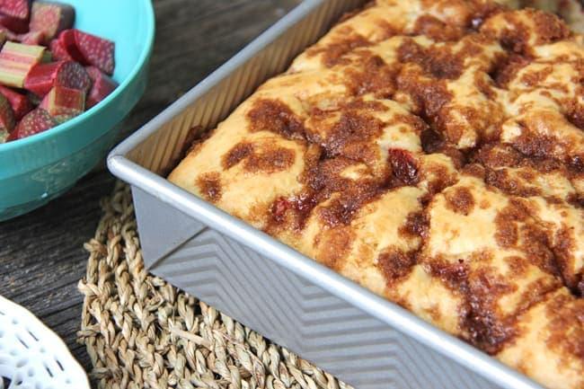 Rhubarb Buttermilk Cake {A Pretty Life}4