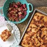 Rhubarb Buttermilk Cake  {A Pretty Life}Feature