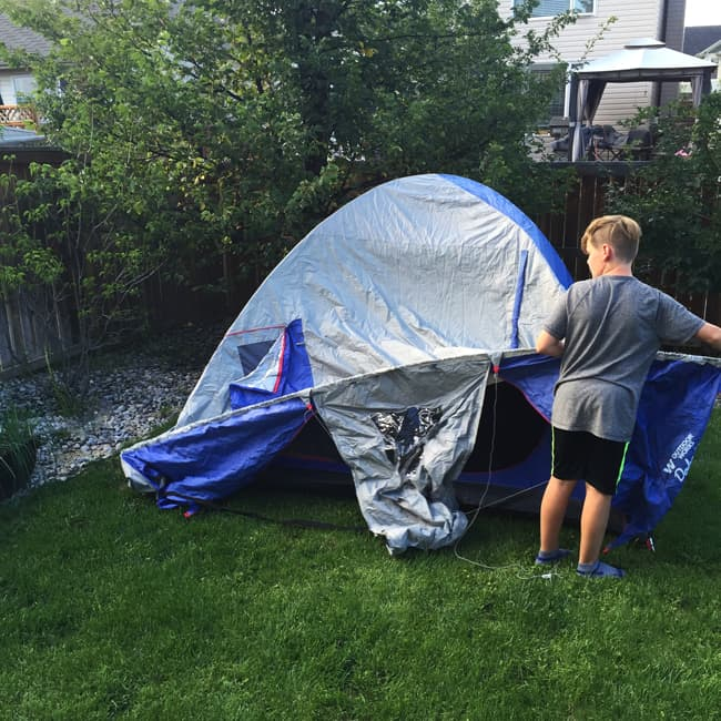 Tips for Backyard Camping with Kids {A Pretty Life}