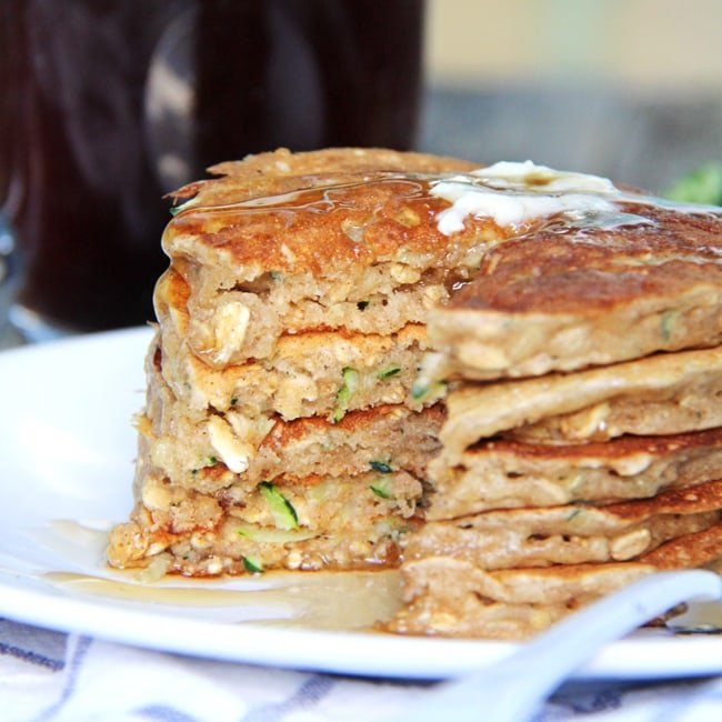 Zucchini Bread Pancakes - A Pretty Life In The Suburbs