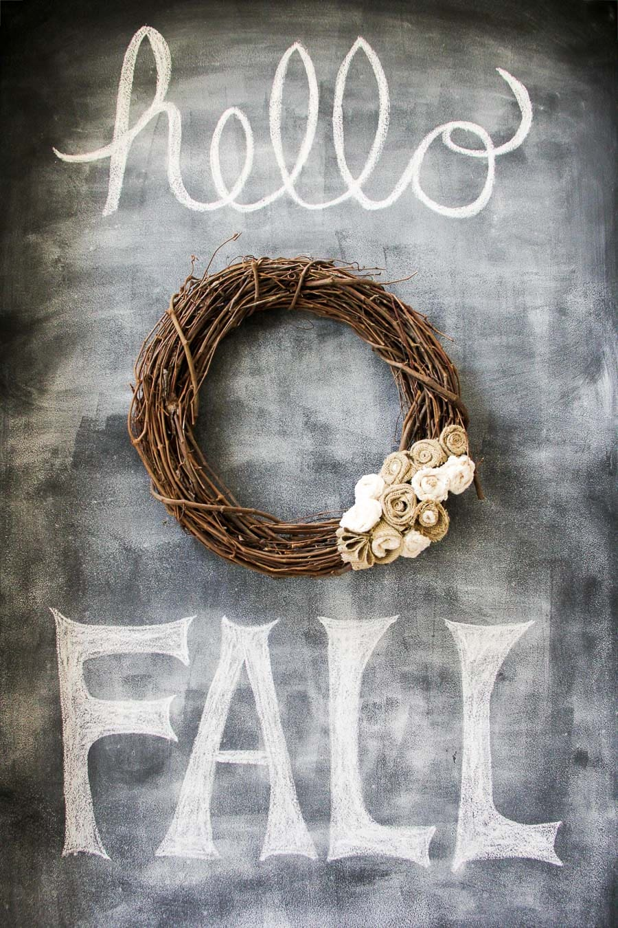 Fall Chalkboard Art {A Pretty Life}