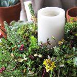 Fall Sedum Candle Centrepiece