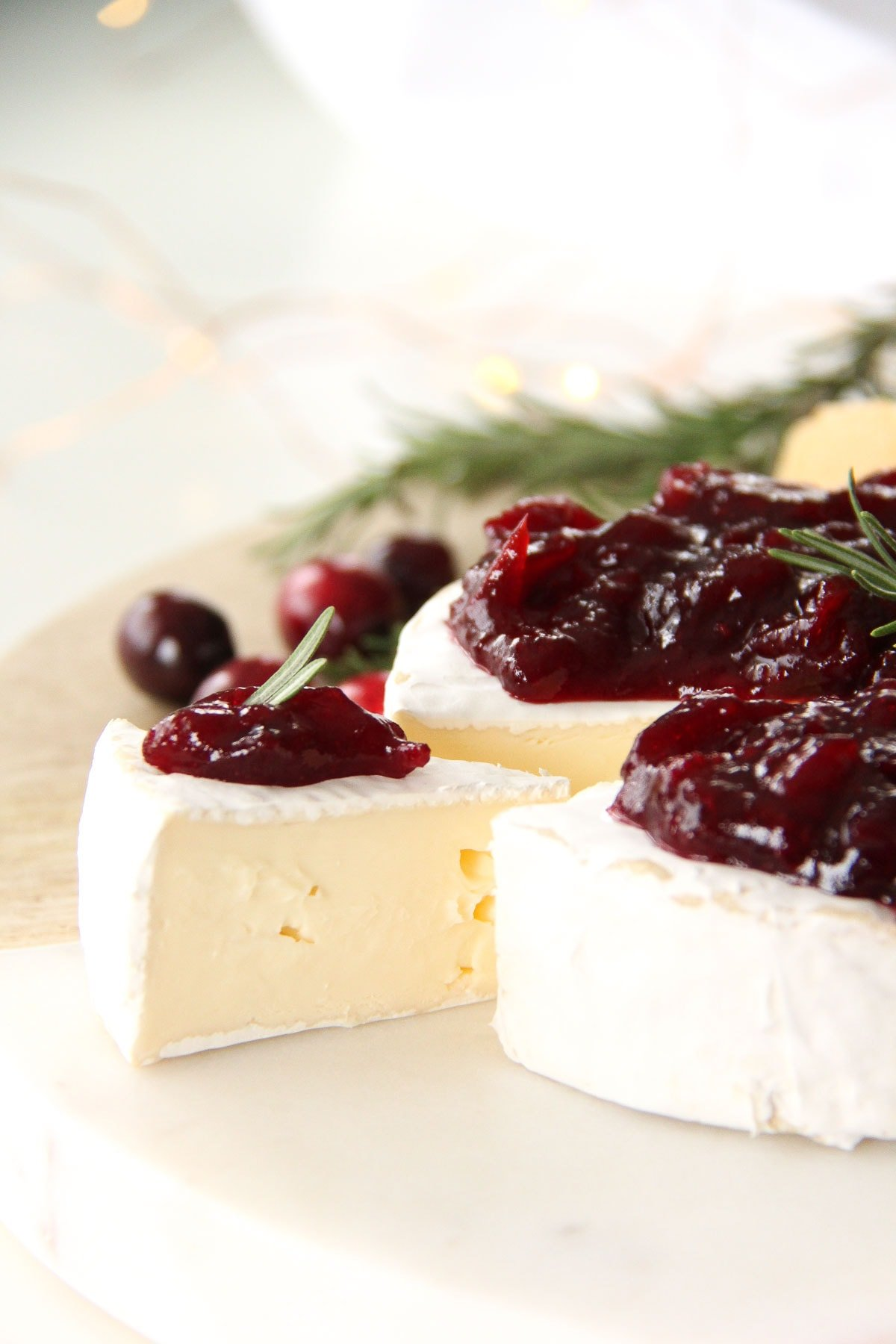 Brie with Cranberry Balsamic Chutney
