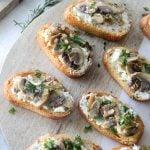 Shallot and Chive Mushroom Crostinis