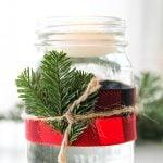 5 Minute Mason Jar Christmas Candles