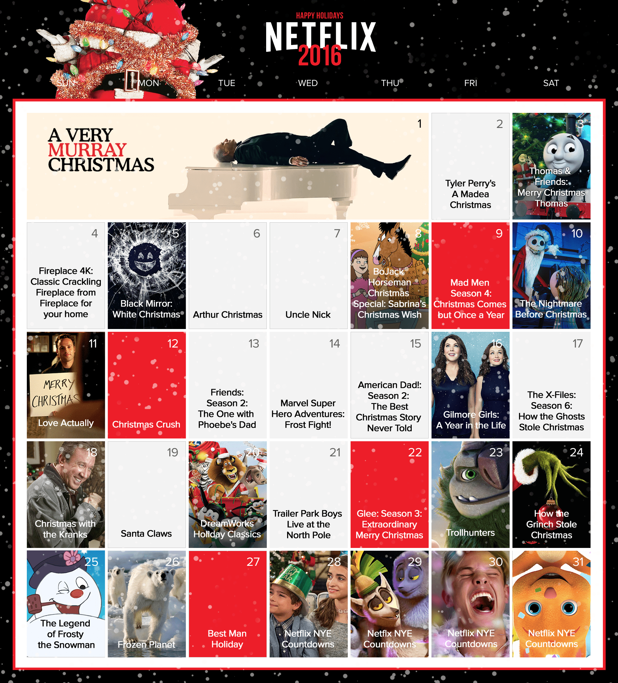 Christmas Calendar Movie : What s streaming on netflix this holiday season a pretty