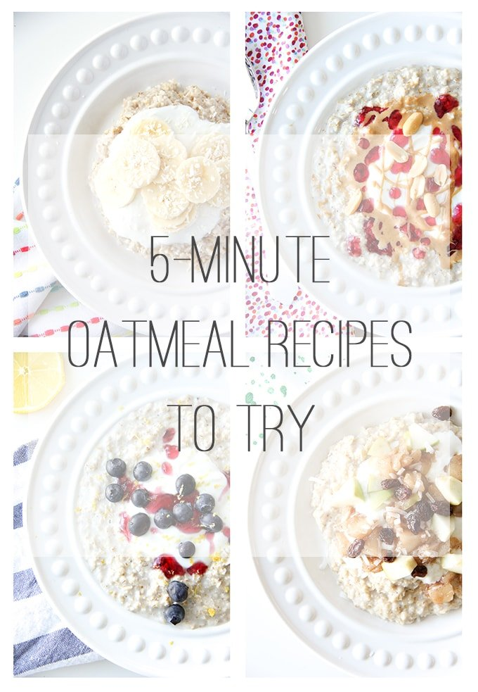 5 Minute Oatmeal Recipes To Try
